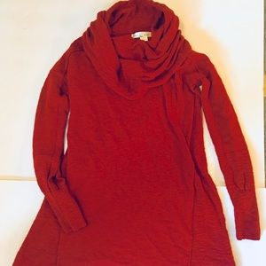 Kaiselyn Burnt Orange Cowl Neck Sweater